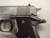 """Pistole COLT, Mod. MK IV Series 80 (5"""" Lauf), Kal. 9mm Luger, stainless Ausführungg (silber), Handballensicherung, mit 3 Magazinen, Zustand Note 2, aus Sportaufgabe (Erstbesitz) *** EWB-pflichtig ***"""