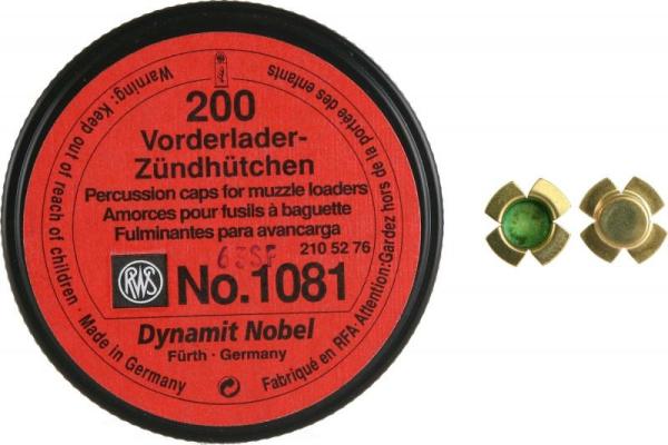 RWS Vorderladeranzündhütchen - 200stk in der Dose (1081)