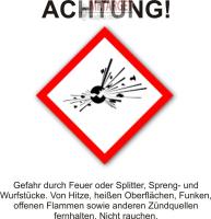50 Platzpatronen 9x17 GRÜN für Blitz und Kerner...
