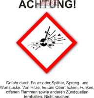 50 Platzpatronen 9x17 BLAU für Blitz und Kerner...