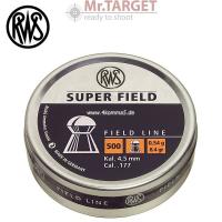 Rws SUPER FIELD Rundkopfdiabolo 4,52mm (500 Stk.)
